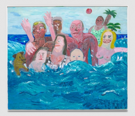 Georgina Gratrix, Desert Island Disco, Punch Curated by Nina Chanel Abney, Jeffrey Deitch; Photo credit Elon Schoenholz