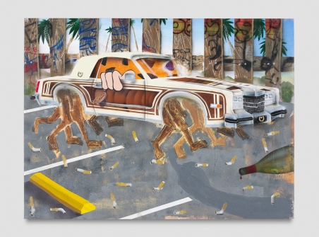 Pat Phillips, You May Not Drive A Gravy Cadillac, Punch Curated by Nina Chanel Abney, Jeffrey Deitch; Photo credit Elon Schoenholz