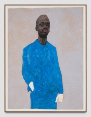 Amoako Boafo, Blue Suit, Punch Curated by Nina Chanel Abney, Jeffrey Deitch; Photo credit Elon Schoenholz