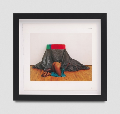 Narcissister, Untitled (Crawling under cloth, after unknown artist), Punch Curated by Nina Chanel Abney, Jeffrey Deitch; Photo credit Elon Schoenholz