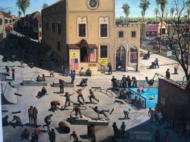 Sandow Birk, Narrative Painting in Los Angeles, Craig Krull Gallery; Photo credit Betty Brown