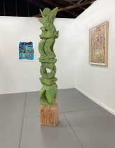 Jason David, Green Totem, Loma Projects; Image courtesy of the gallery