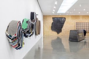 Installation view of Theaster Gates Line Drawing for Shirt and Cloak Regen Projects, Los Angeles September 14 - November 2, 2019 Photo: Joshua White, Courtesy Regen Projects, Los Angeles