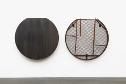 Steel and Fence Dispensers © Theaster Gates, Courtesy Regen Projects, Los Angeles