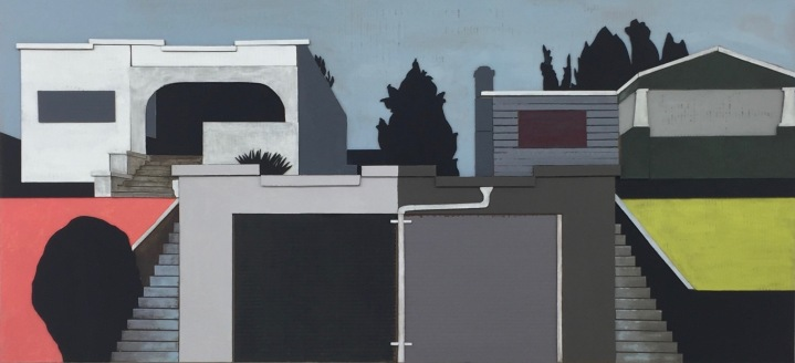 Lorraine Heitzman, Two Houses Two Garages; Image courtesy of the artist