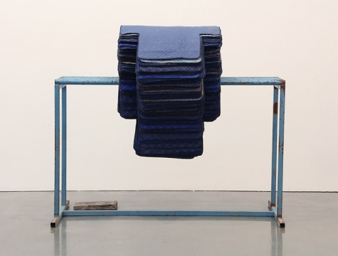 Untitled (Blue Rack with Stacked Crosses) © Theaster Gates, Courtesy Regen Projects, Los Angeles