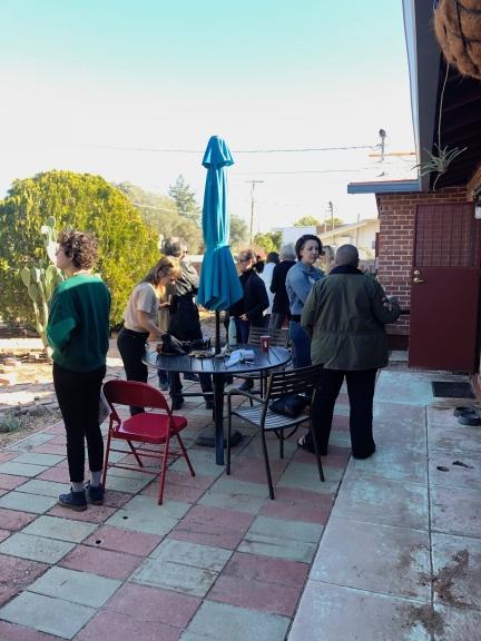 breakfast crowd at albertos talk. Photo Courtesy Stew-dio Visit