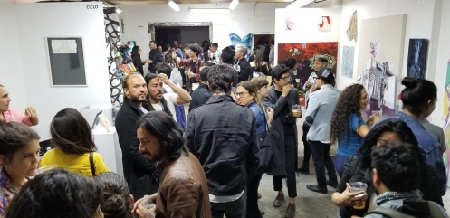 QiPO 01 Opening reception; Image courtesy of Emily Blythe Jones