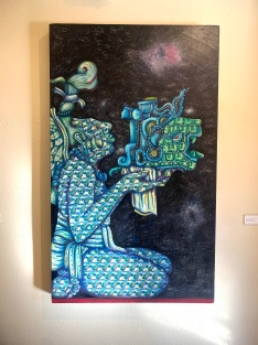 Heriberto Luna, Rhythms of a Cosmic Sky, Muckenthaler Cultural Center; Photo credit Sydney Walters