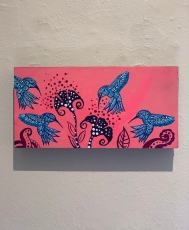Heriberto Luna, Untitled Hummingbirds, Muckenthaler Cultural Center; Photo credit Sydney Walters