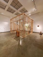 Hilary Norcliffe, House Hold, St. Broxville Wood: Into the Thicket, Kellogg University Art Gallery; Photo credit Sydney Walters