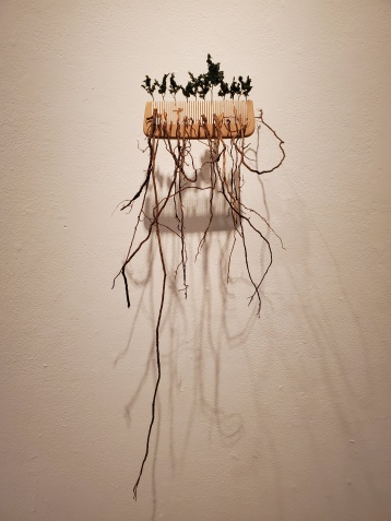 Hilary Norcliffe, Rapunzels Rake, St. Broxville Wood: Into the Thicket, Kellogg University Art Gallery; Photo credit Sydney Walters