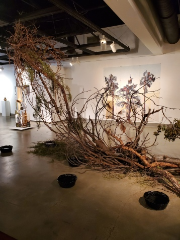 St. Broxville Wood: Into the Thicket, Kellogg University Art Gallery; Photo credit Sydney Walters