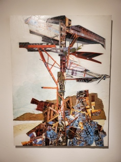 Jennifer Gunlock, Upward Mobility, St. Broxville Wood: Into the Thicket, Kellogg University Art Gallery; Photo credit Sydney Walters
