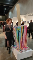 Betsy Enzensberger. LA Art Show, LA Convention Center; Photo credit Kristine Schomaker
